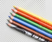 Magic colored pencils, marbled pencils crayons, multi-colored multi-color Koh-i-noor Magic