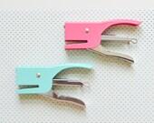 Mini stapler, Whale stapler, pink stapler, gift new job, gift back to school