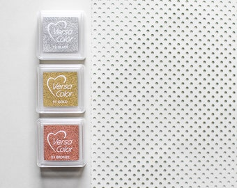 Gold ink pad, copper stamp pad, metallic ink pad, silver ink pad, gold stamp pad, gold stamp, glitter stamp pad, metallic stamp pad