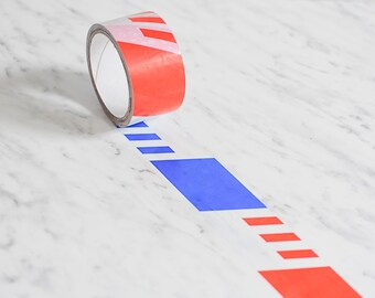 Airmail packing tape, air mail parcel tape, blue red packing tape, airmail packaging tape, red packing tape, red mailing tape