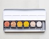 Metallic calligraphy colors, Gold Glitter Watercolors Paint Box, Finetec paint box