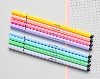 Pastel Stabilo 68 Pens, Stabilo Pastel fineliners, pastel pens, colored pens, Stabilo pens