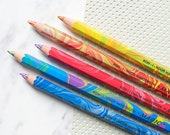 Marbled colored pencil marbleized pencil crayon multi-colored multi-color Koh-i-noor Magic