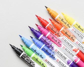 Ecoline Brush Pens, Ecoline, Handlettering Pens, Ecoline Pens, Watercolor Pens,Brush Pens,Watercolor Brush Pens,Travel Watercolor,Watercolor