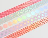 Holo masking tape, iridescent washi tape, confetti washi tape, silver masking tape