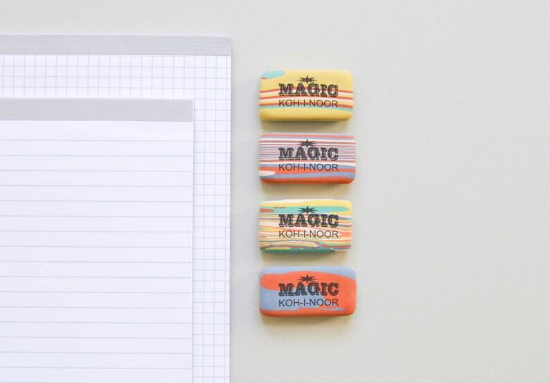 Eraser Magic Koh-i-noor marbled multi colored rubber image 0