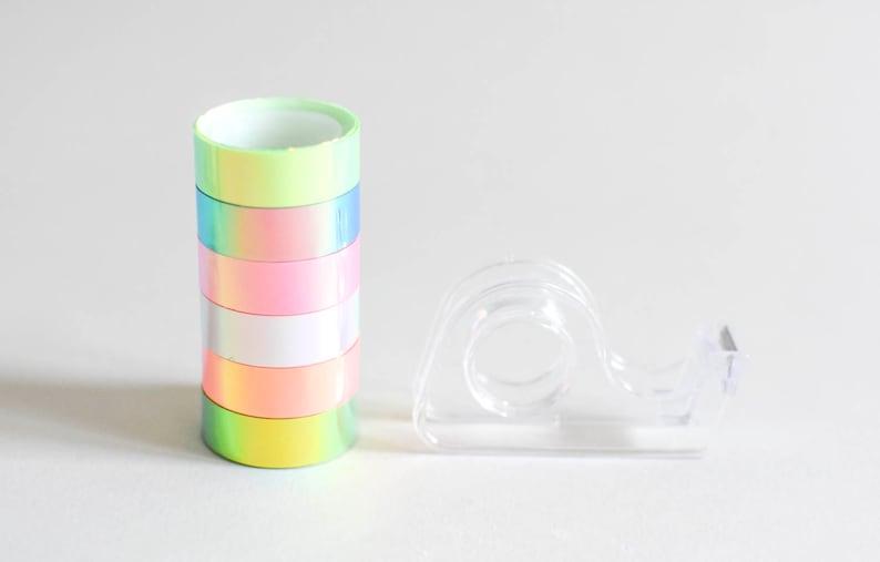 Sample holo tapes holographic masking tape iridescent tape image 0