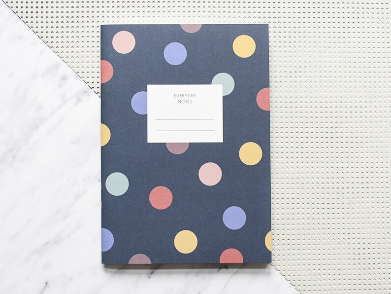 Polka dots notebook dotted notebook excercise book notebook image 0