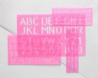 ABC Stencil, Bujo Stencil, Bullet Journal Stencil, Letter Stencil, Numbers Stencil, Stencil Set, Stencil Set Bujo, Bujo Gift, Bullet Journal