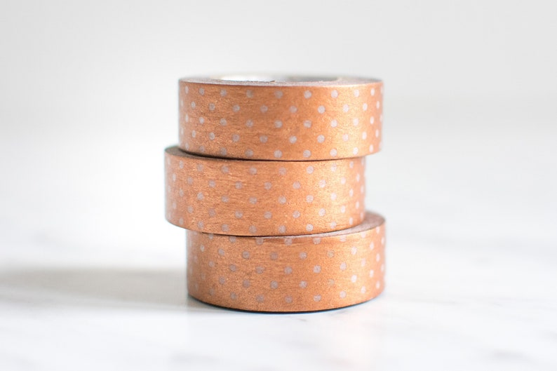 Copper dotted washi tape image 0