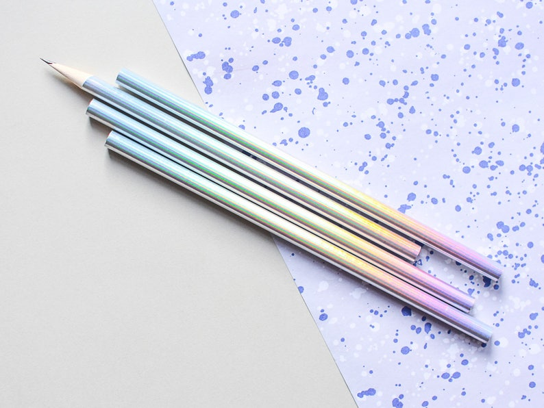 Holo Pencils holographic pencils holo pencil iridescent image 0