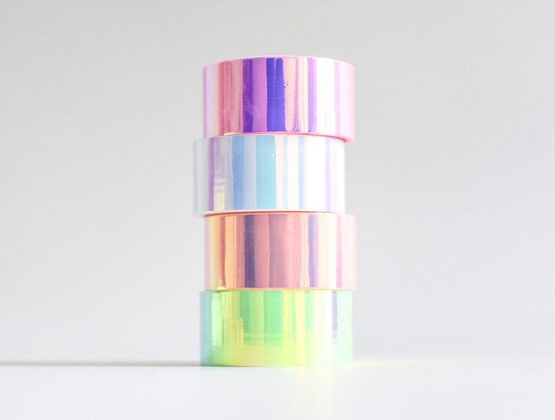 Holo tape holographic masking tape iridescent tape image 0