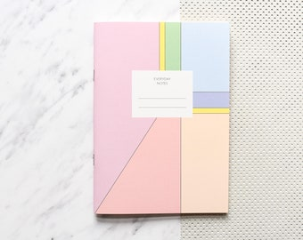Notizheft DIN A5, Pinkes Notizheft, Blanko Notizbuch, Schreibheft, gebundenes Heft, Haferkorn & Sauerbrey Spring H014
