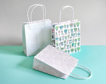 Plant gift bags, succulent gift bags, mint gift bags, green paper bags, plant paper bags, monstera,plant gift,succulent gift,plant gift wrap
