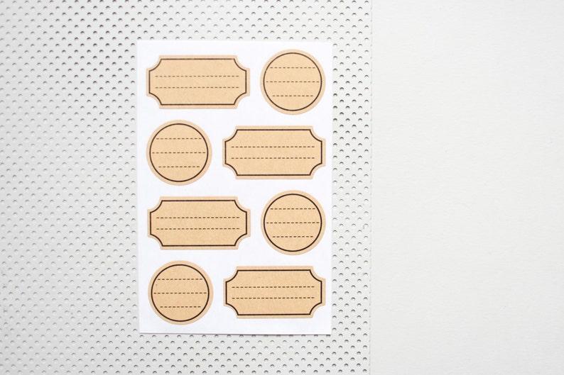 32 Kraftpapier Aufkleber Etiketten Marmeladengläser Aufkleber Beschriftungsaufkleber Namen Etiketten A007