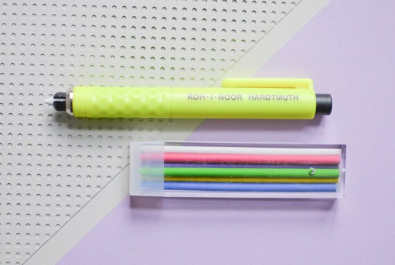 6 Colours for use in Clutch Pencil New Koh-I-Noor S128 Tailor/'s Chalks