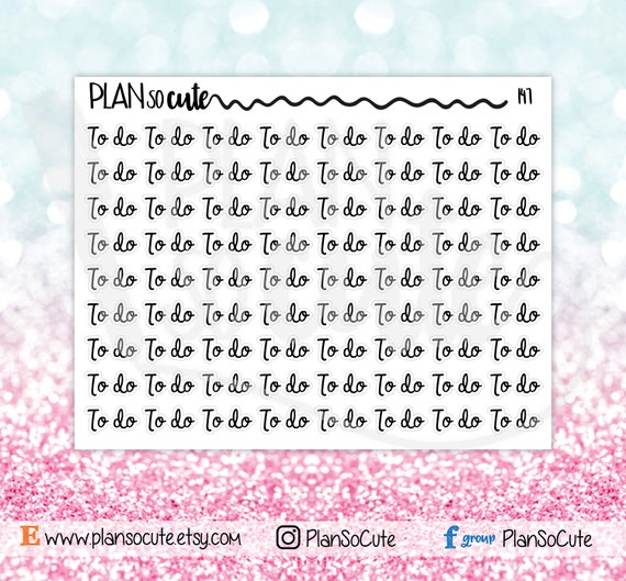 to do script word planner stickers functional planner etsy
