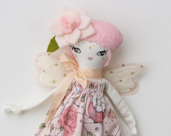 "Tiny Fairy Doll rose 6.5"" ish tall creamy studio sample sale, read descriptions!"