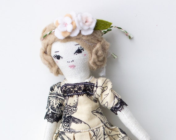 "Petite Girl Doll 8"" ish tall - OOAK ART doll sample - studio sample sale, read descriptions!"