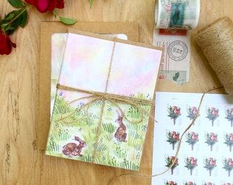 Seasons Notecard Sets <winter, spring, summer, autumn>