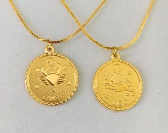 bba371535d5 Zodiac pendant, zodiac necklace, new 3/4