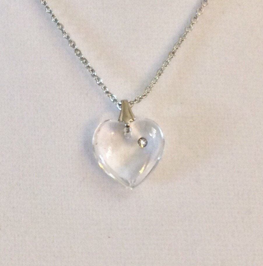Silver Heart Jewel Daily Silver Necklace Vintage 80\u2019s Silver Heart Necklace Fine Silver Jewel.Woman\u2019s Accessory Woman\u2019s Jewels Her Gift