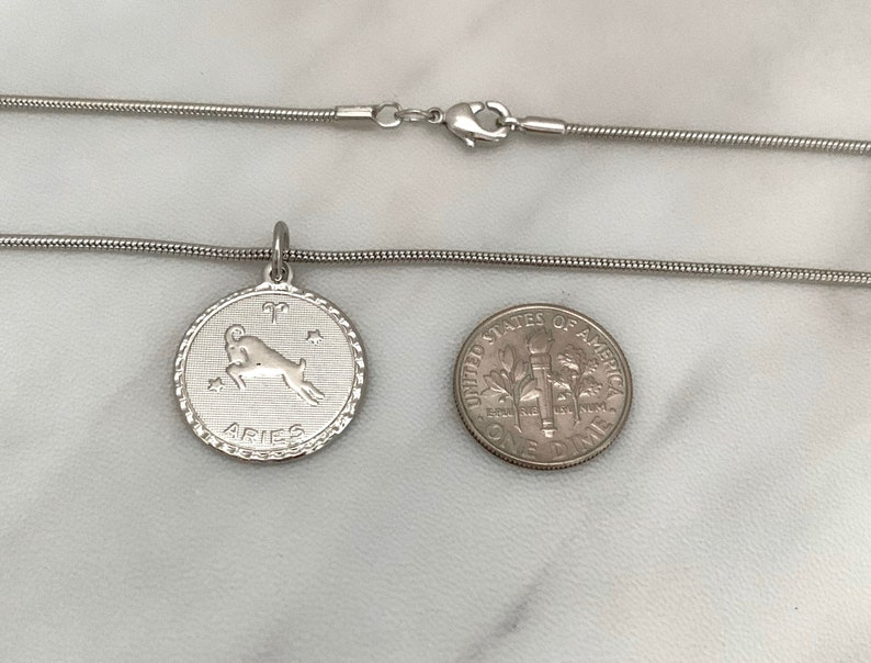 All 12 zodiac signs are available. Zodiac pendant zodiac necklace new 34 silver rhodium plated pendant with a 14k plated snake chain