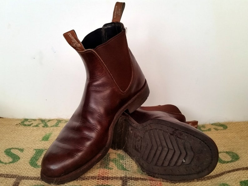 73f059e342b9e Brown R.M. Williams Boots – Vintage Made in Australia – Size AU 11 G , usM  12, EU 46 Leather Chelsea Dress Men's
