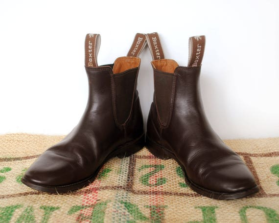 b4b09f9320a6f Brown Baxter Riding Boots - Vintage Made in Australia – RM Williams  Blundstone style Leather Chelsea Size Aus 3 usL 5 eu 35