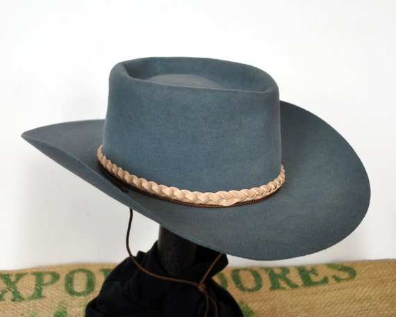 Blue Akubra  Silver Spur  Hat Stetson cowboy  d9e20b809ae