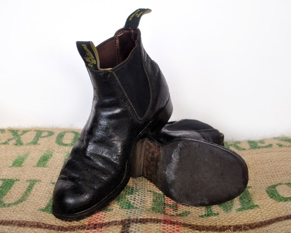 8944141f4062f Black R.M. Williams Boots – 80's Vintage - Original Made in Australia –  Leather Black Chelsea Craftsman Size RMW 3.5 G usL 5.5 EU 35.5 RM