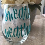 Sweater Weather Wine Glass | Sweater Weather | Winter | Cold | Warm Up | Wine Glass