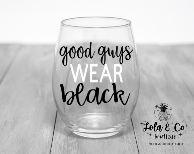 Good Guys Wear Black | Chicago White Sox | Wine Glasses