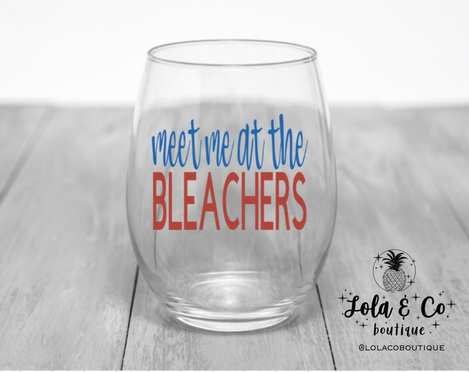 Meet Me At The Bleachers | Chicago Cubs | Wine Glasses