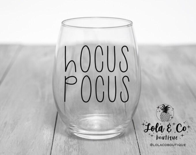 Hocus Pocus Wine Glass | Coffee Mug | Halloween | Black Mug | Sanderson Sisters | Cider