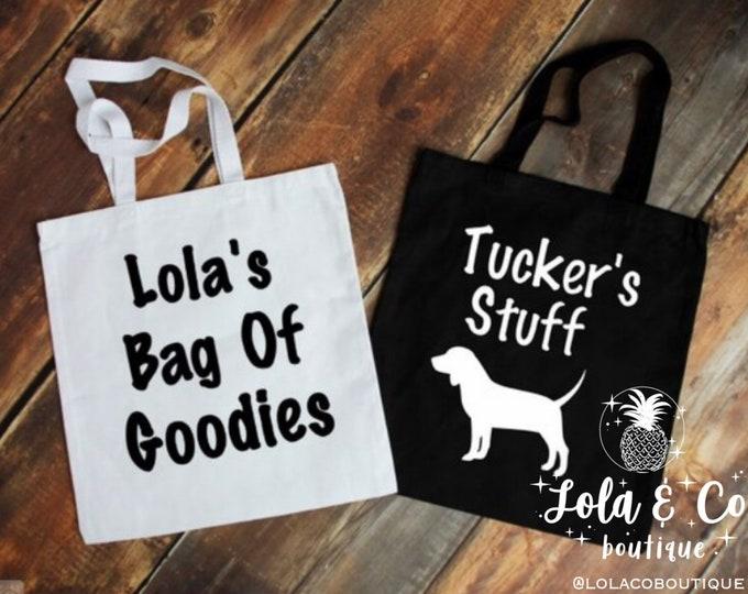 Dog Tote Bag | Tote Bag | Fur Baby | Dog | Tote | Daycare | Playcare | Overnight Bag