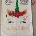 Unicorn Santa Bag | Personalized | Glitter Name | Santa | Unicorn | Santa Sack