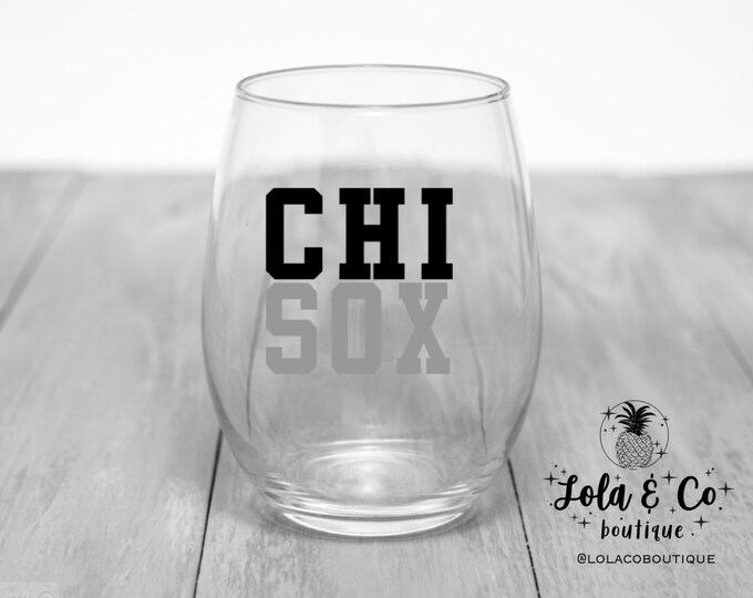 Chi Sox | Chicago White Sox | Wine Glasses