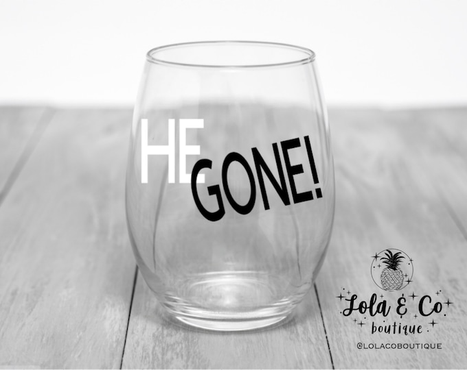 He Gone | Chicago White Sox | Wine Glasses