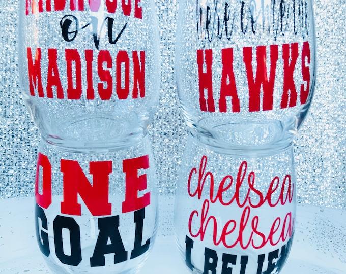 Chicago Blackhawks Wine Glasses - {FULL SET}