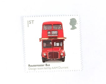 Double Decker Bus Unounted Rubber Stamp