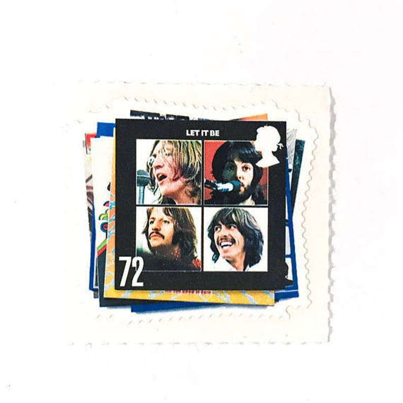 1 x Let It Be Album Cover UNused GB 72p Mint MNH Postage Stamp - The  Beatles - for crafts, mail art, photo styling, collecting, postage