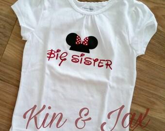 Big sister Minnie mouse shirt