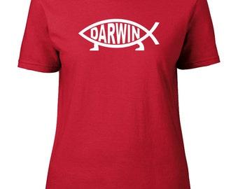 Drôle Darwin Evolution Poisson Science T SHIRT 100/% coton toutes tailles et couleurs