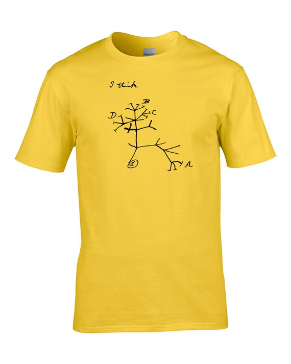 DARWIN/'S TREE OF LIFE Men/'s T-Shirt Ideas of Natutral Selection