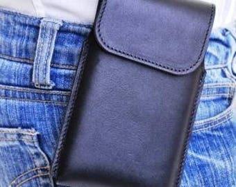 Nutshell #298 Leather Smartphone Belt Case