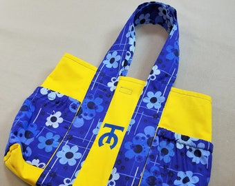 Yellow & Blue Flower Tote Bag (Small)