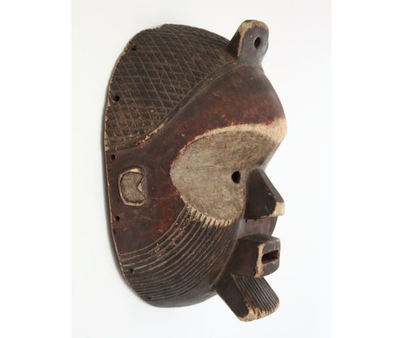Large Fang Mask, Gabon, AFRICA, Tribal Art, Wood Carving, Free Shipping