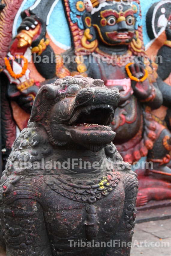 Kali Kalo Bhairab statue at Durbar Square, Kathmandu Nepal - Digital Download Photography