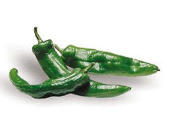 Hot Pepper- Anaheim- 75 day- 2500 scovilles- mild heat- 25 seeds per pack